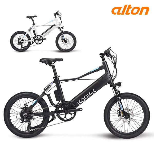 전기 자전거 2020 알톤 코디악 20FS 파스 스로틀 8단, 20 화이트 (파스)