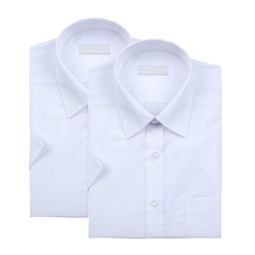 레디핏 남성용 기본 화이트 하얀색 반팔 와이셔츠 2장 세트
