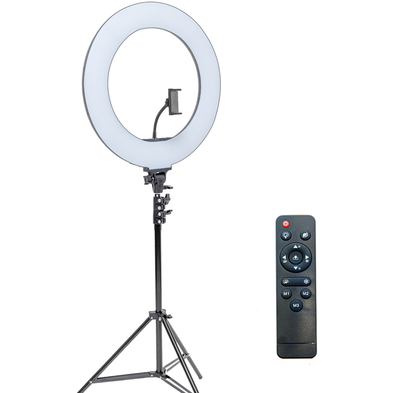 알파믹 촬영용 대형 LED 링라이트 유튜브 스트리밍 지속광 원형 조명, 조명 & 기본 스탠드 세트