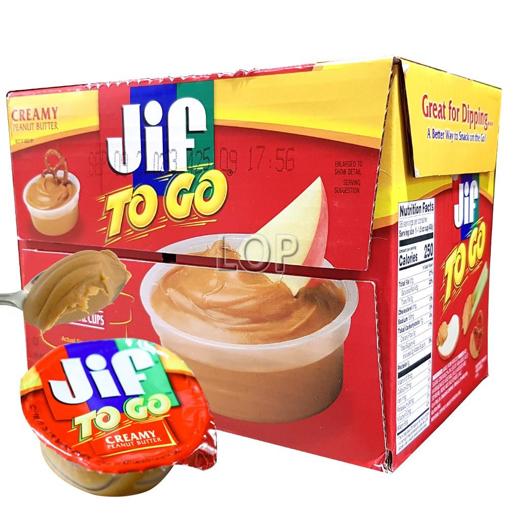 JIF TO GO 크리미 땅콩 버터 43g 18개/ 피넛버터 소스