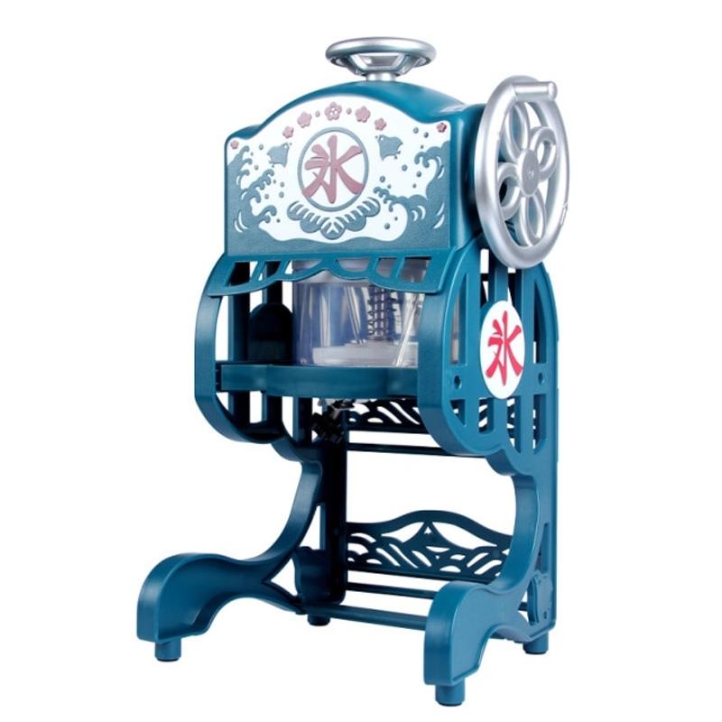 눈꽃 빙수기 팥빙수 기계 미니 얼음 분쇄기 가정용 전기 제빙기 눈송이, 하늘색, 220  240V, 유럽 연합