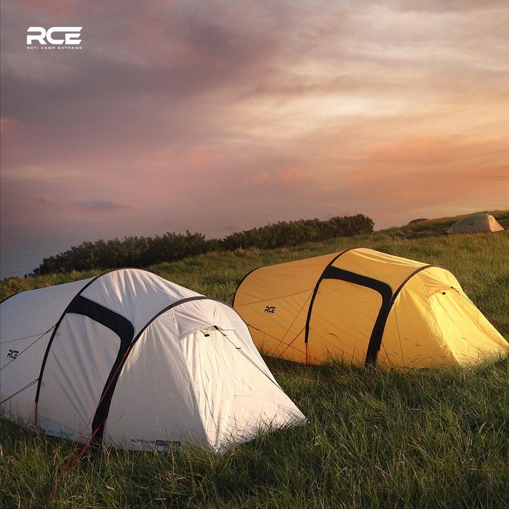 로티캠프 RCE 라브 백패킹 터널형 텐트 2인용, 레드