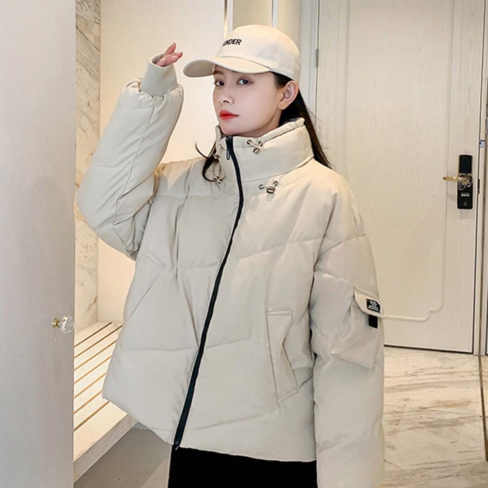 타니즈 하이넥 여성용 숏 패딩점퍼 타빈