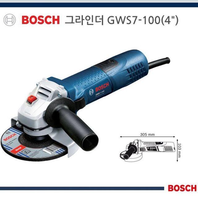 DRV685420신뢰공장보쉬 그라인더 그라인더 전동 GWS7-100 4in 미니그라인더 절삭공구 속도조절그라인더 (POP 5607178466)