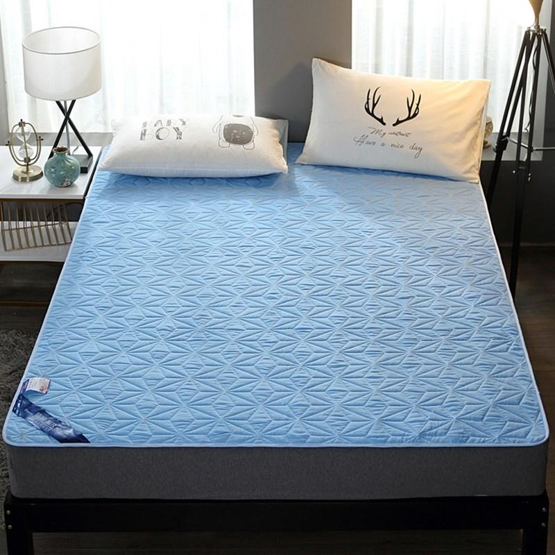 토퍼 템퍼 매트리스 침구 기타 면실 사계절 공용 침구, 푸른_1.8m (6 피트)