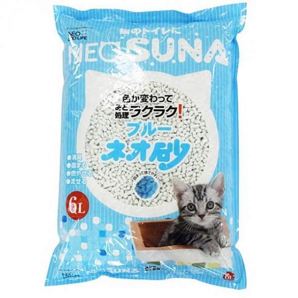엠마트 고양이모래 8개 네오스나 블루펄프 모래 6L 1.92kg 고양이 나무 종이
