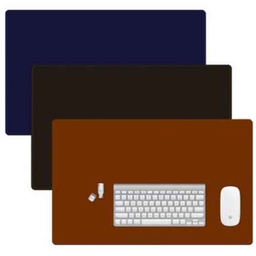 [아주문구] 멀티데스크패드 책상용 고급 가죽 느낌의 PU 재질, 멀티데스크패드 책상용 *브라운