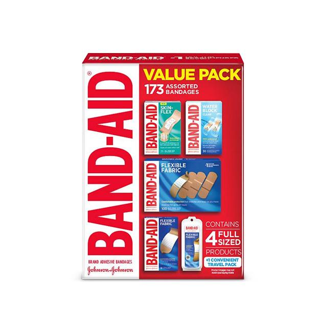 밴드에이드 밸류팩 종합밴드 방수 일회용밴드 대용량 173개입, 173개 (POP 1574047841)