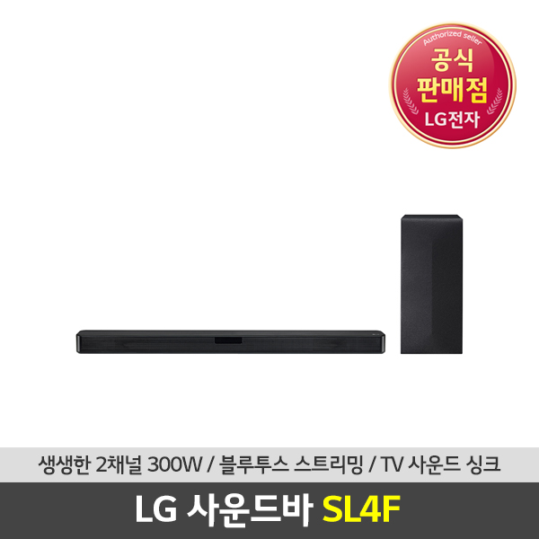 LG전자 LG 사운드바 2.1채널 300W 무선우퍼 블루투스 SL4F, 단일상품
