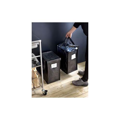 이케아 가정용 재활용 분리수거가방 함 35리터, 3개, 다크그레이