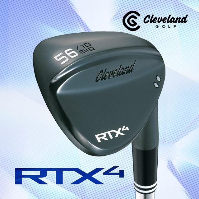 클리브랜드 웨지 - (던롭정품) 클리브랜드 ALL NEW RTX 4 블랙사틴 스틸 웨지(DG S200), (블랙사틴)스틸52도(10바운스)(Mid)