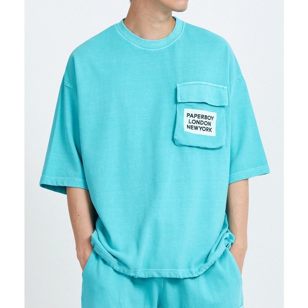 페이퍼보이 [당일출고] 고퀄리티 피그먼트 오버핏 반팔티 7컬러 반팔 티셔츠