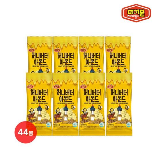 [머거본] 허니버터아몬드 30g 44봉, 없음, 상세설명 참조