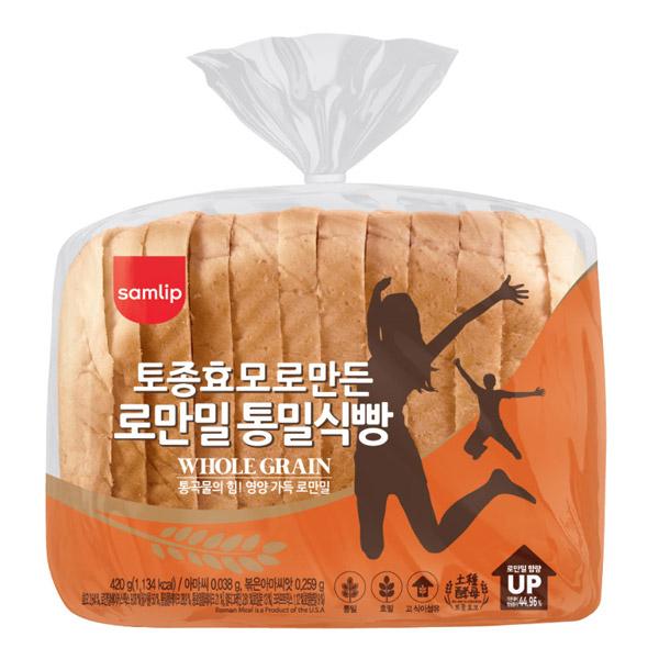삼립 로만밀 통밀식빵 420g, 4봉