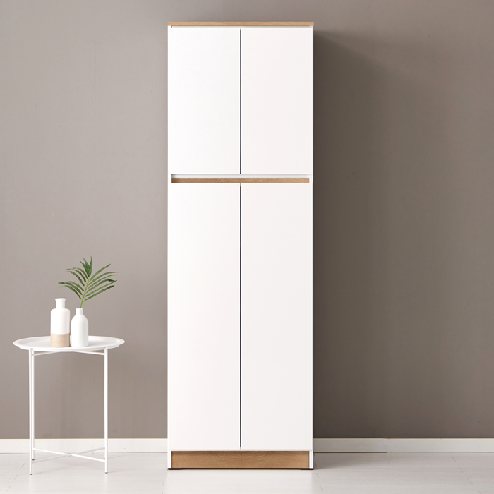 퍼니하우스 헤븐 1800 다용도 주방 부엌 냉장고형 키큰수납장, 오크