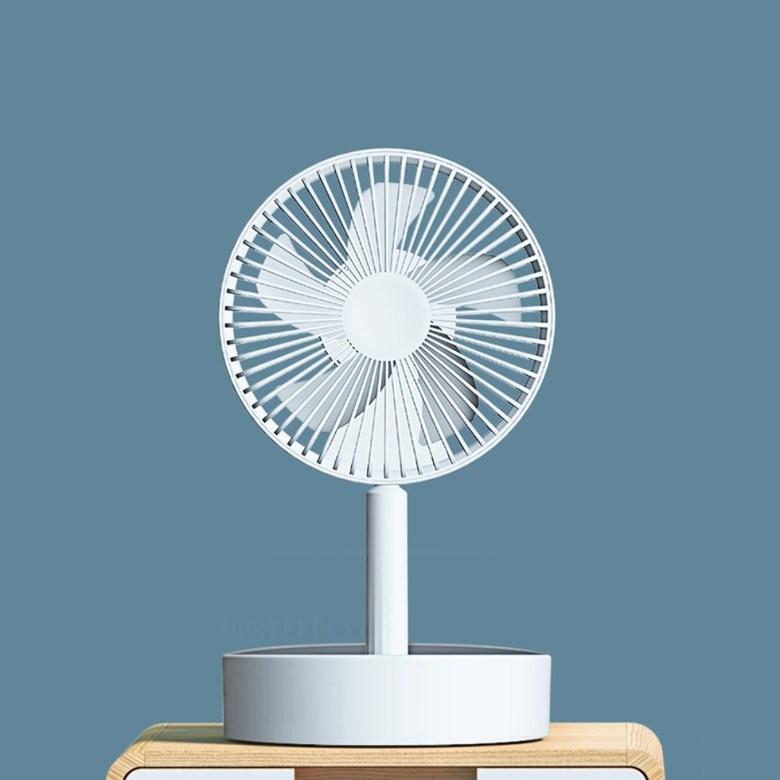 샤오미 4세대프로 무선 선풍기 접이식 무소음 스탠드 써큘레이터, 화이트 높이조절불가 (POP 5624364071)