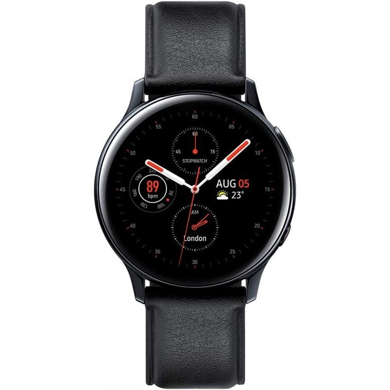 삼성 갤럭시 워치 액티브2 4G LTE 스테인레스 스틸 40mm - 검은색(영국 버전), 단일옵션, 단일옵션