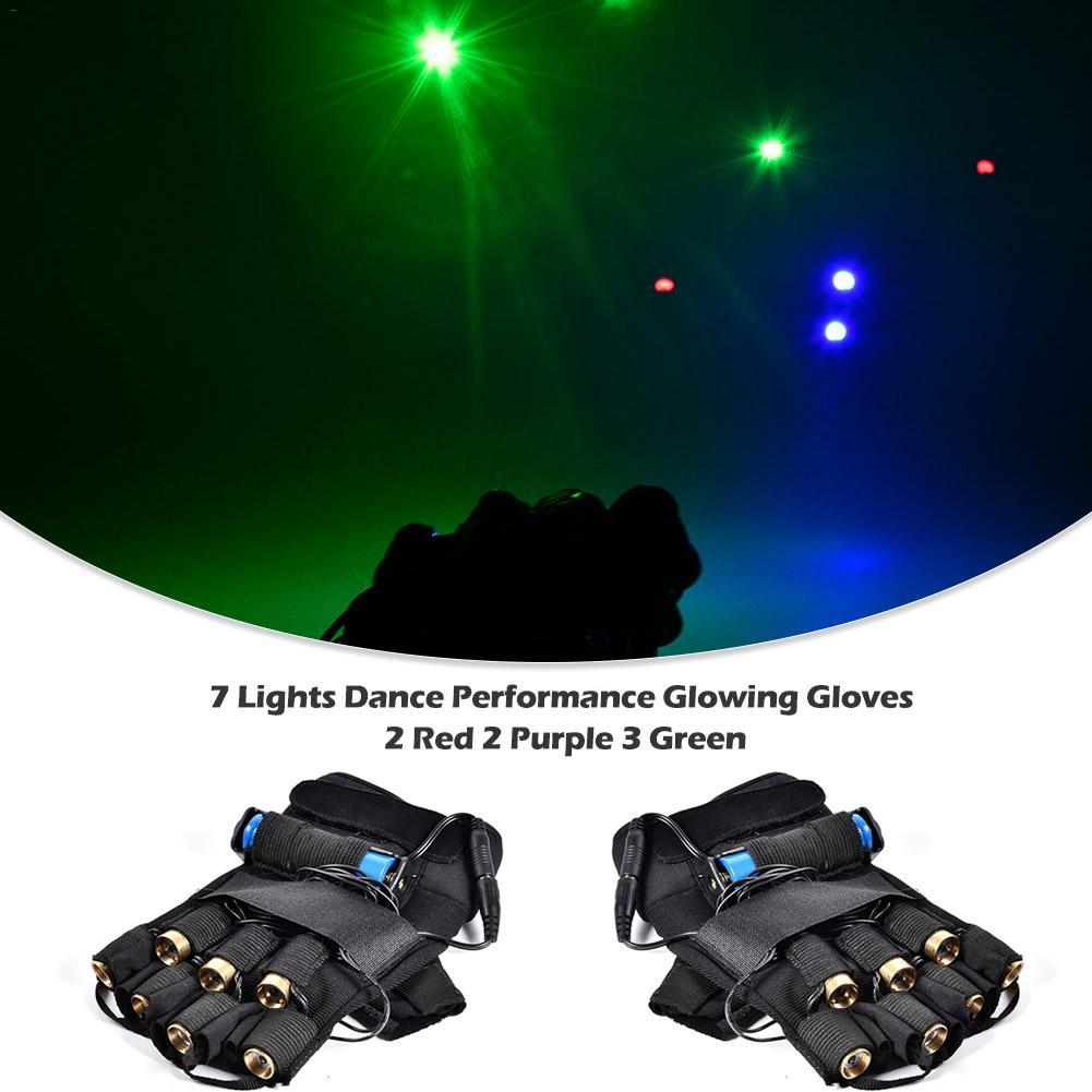 레이저 장갑 댄스 무대 쇼 장갑 빛 7 PCS 레이저 LED 팜 라이트 3 색 DJ 클럽, [2] [right]^