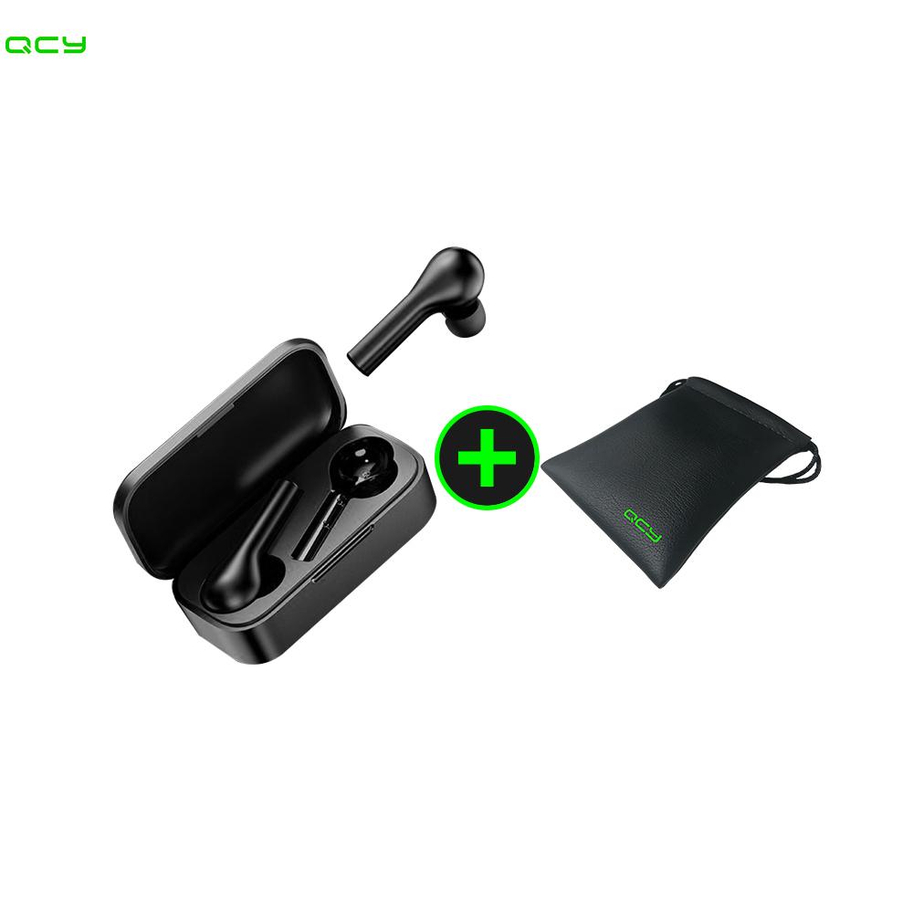 QCY T5S 블루투스 이어폰 파우치 증정 앱 팝업 탑재 신체감지 2020 최신상품 무료배송