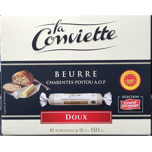 La Conviette 라꽁비에뜨 무염 버터 150g (15g X 10개) 프랑스, 1세트