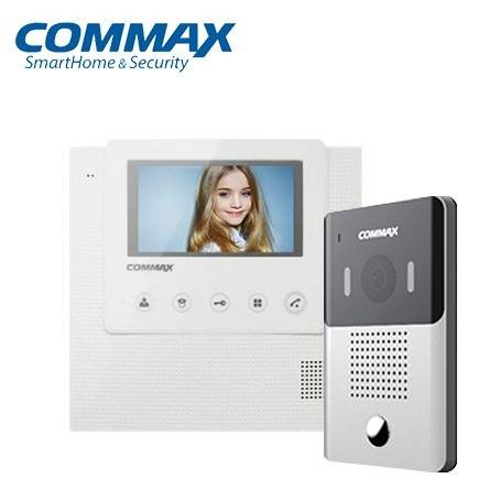 코맥스 CAV-43U+DRC-4Y 패키지 화이트 비디오폰, CAV-43U