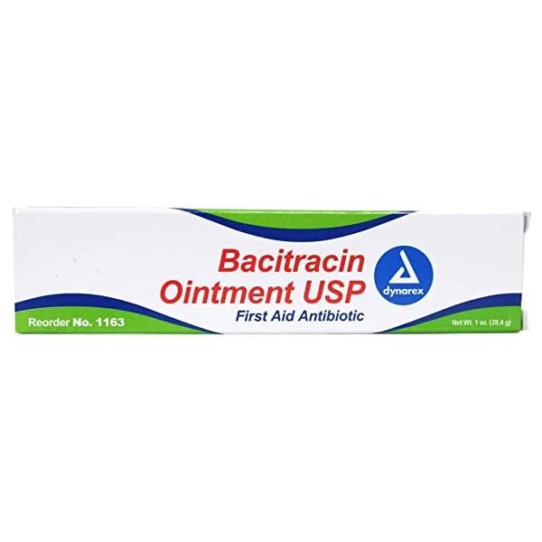 Dynarex Corporation (n) Bacitracin 연고 1 Oz 튜브 (Dynarex 번호 1163), Quantity of 1 (POP 5722199159)