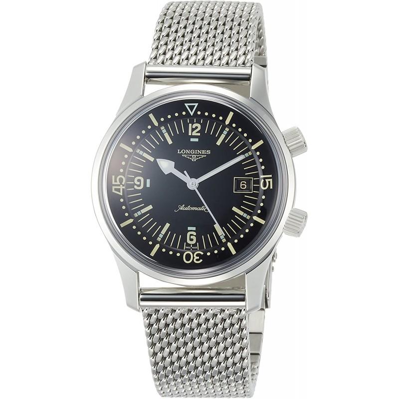 [론진 남성시계] [론진]손목 시계 론진 레전드 다이버 자동 내둘러L3.674.4.50.6남성 정규 수입품 실버