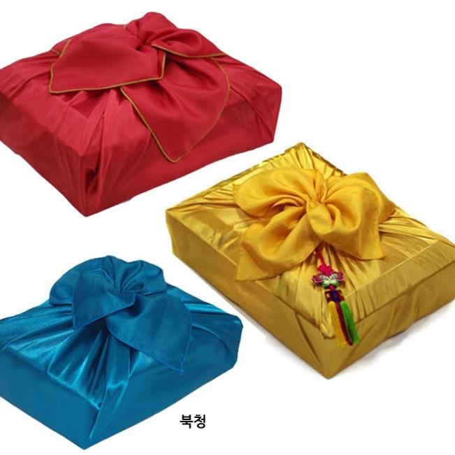 보자기 선물포장 공단 과일보자기, 1개, 색보자기 소-황토