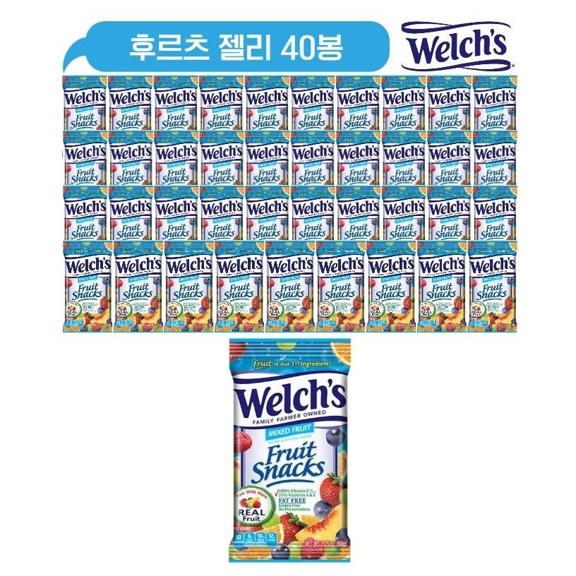 대용량 웰치스 후르츠믹스 젤리 2550g(100개)/웰치스젤리/과일젤리, 1개, 21ml, 40봉