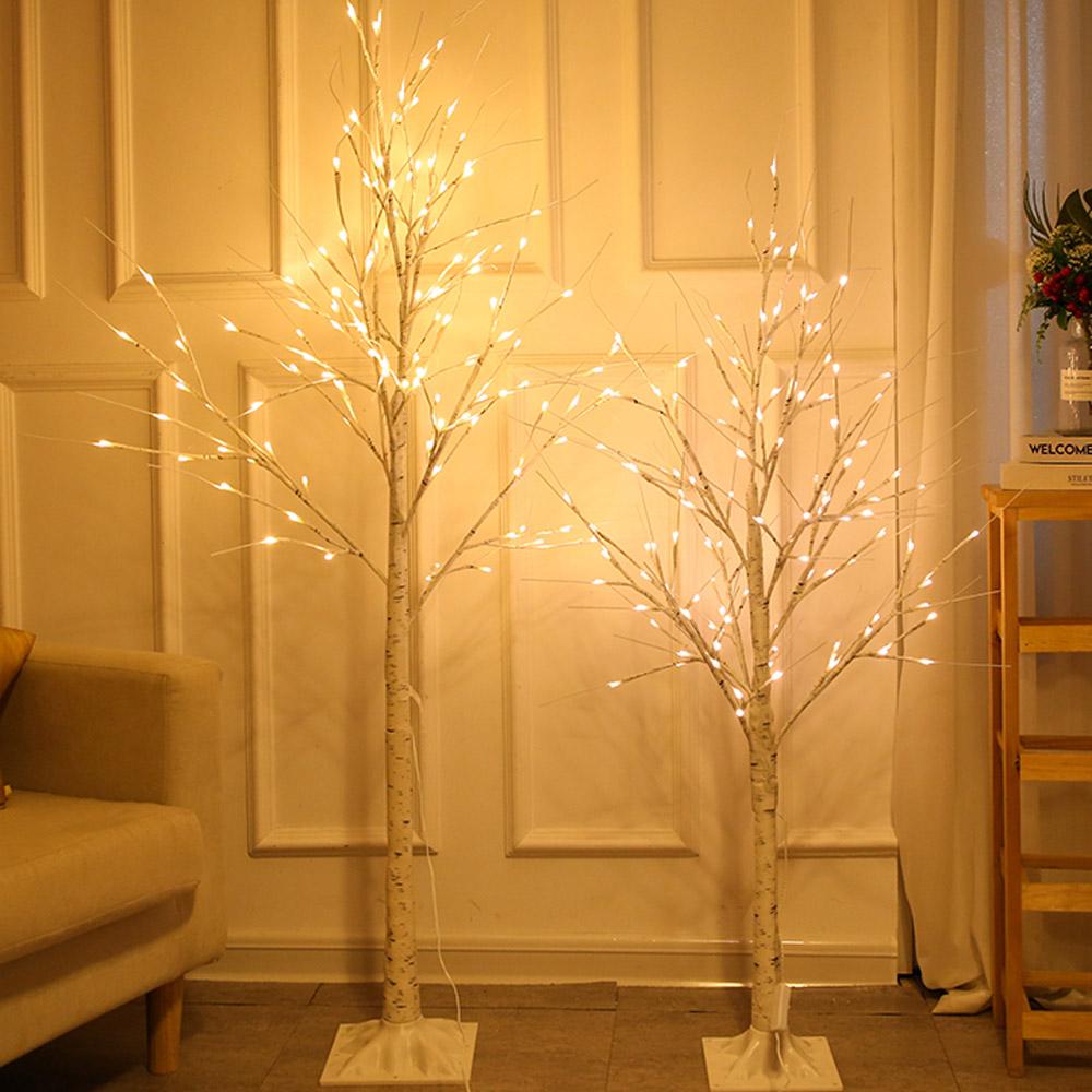 LED 겨울나무 무장식 스탠드형 무드등 카페감성 까페개업 선물 조명 선물 LED자작나무, [단색]