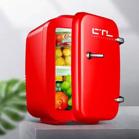 [이라운드몰]4L 6L 10L 미니 화장품냉장고 가정용 차량겸용 무소음, 가정용 차량겸용 4L 레드