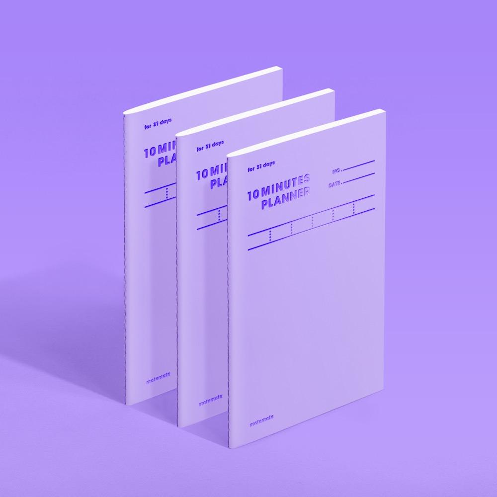 모트모트 텐미닛 플래너 31days - 바이올렛 (3EA)