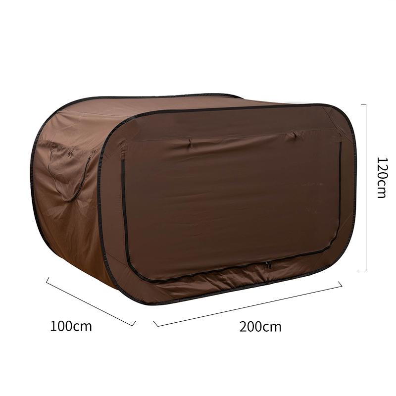 직사각형 원터치 텐트 캠핑 피크닉 소풍 그늘막 넓은 구조, 브라운 (POP 5430326608)