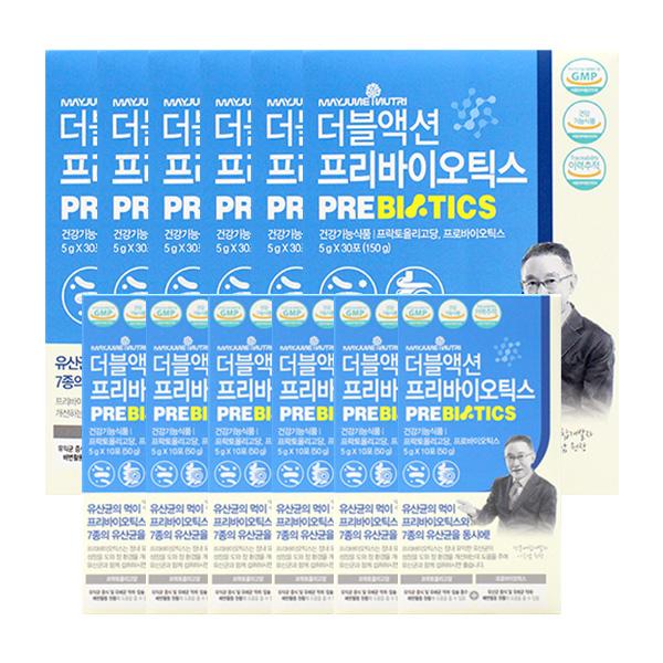 메이준뉴트리 더블액션 프리바이오틱스 30포X6+10포X6, 단품