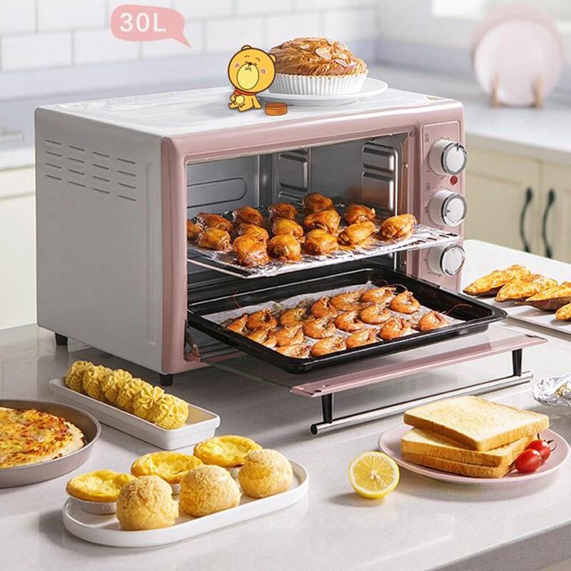 가정용 곰돌이 대용량 전기 오븐 소형 30L 베이킹 오븐KD1610, DKX-B30N1