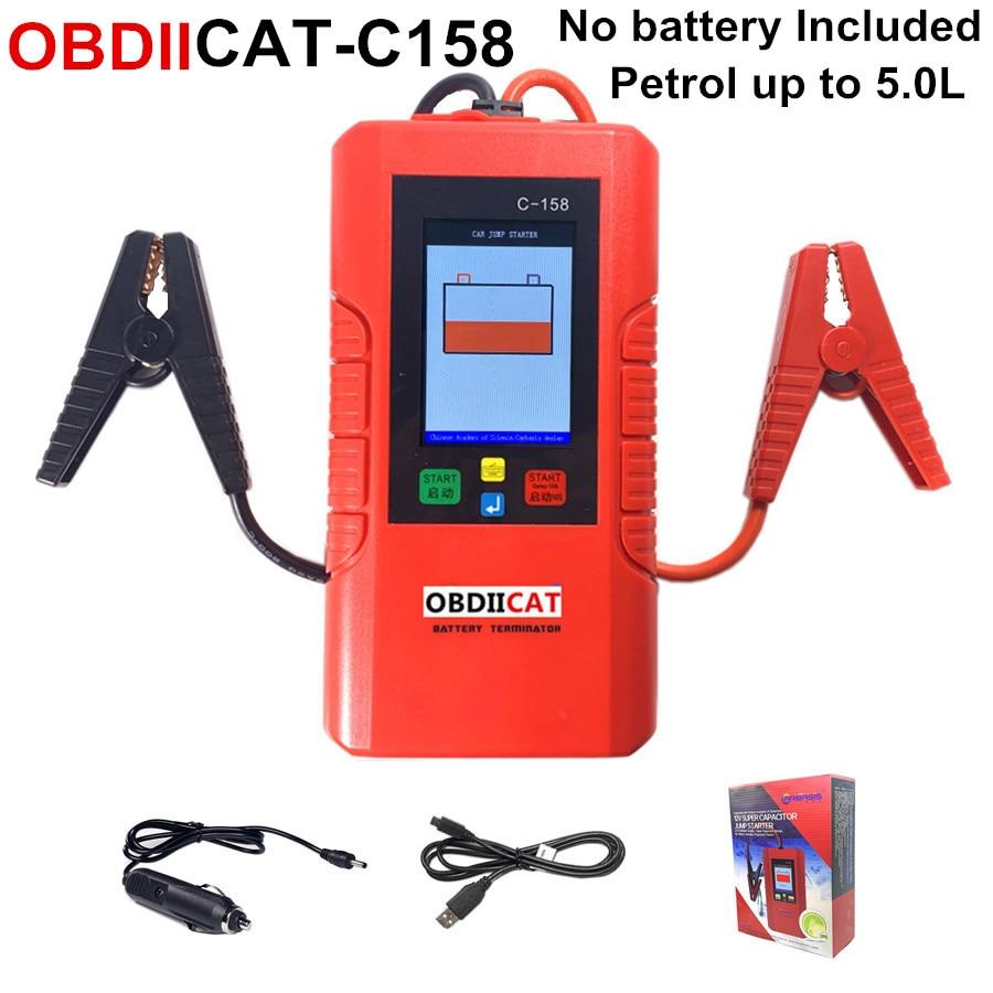 점프스타터 New Generation OBDIICAT-C158 C-158 Car Battery Power Bank JUMP STARTER Car Booster 12V No Battery Inside SUPER CAPACITOR, One Color, One Size
