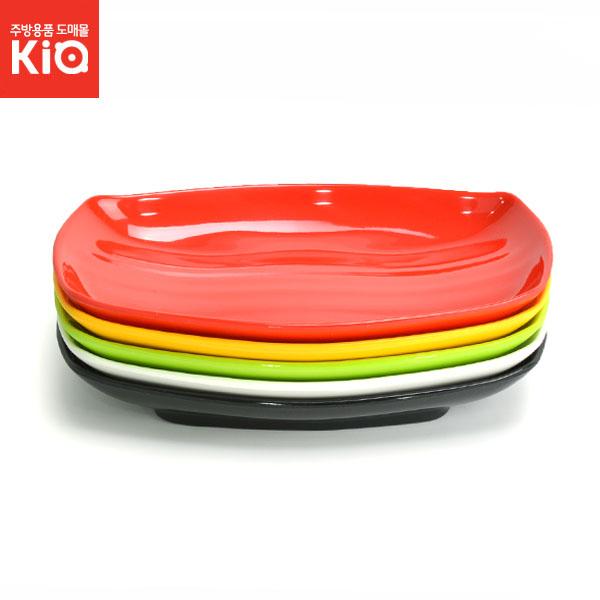 사각타원접시 멜라민접시 반찬그릇 생선 칼라멜라민, 멜라민(KJ)-사각타원접시 1호