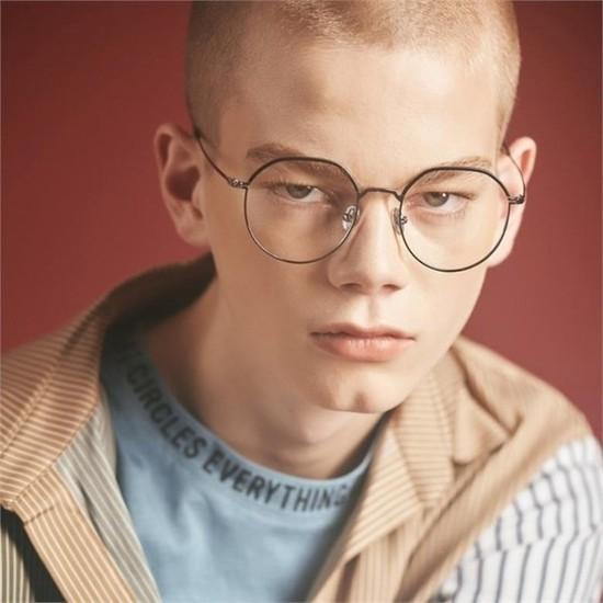 [하프클럽/블루엘리펀트]RITA silver-black 안경 반뿔테 안경..