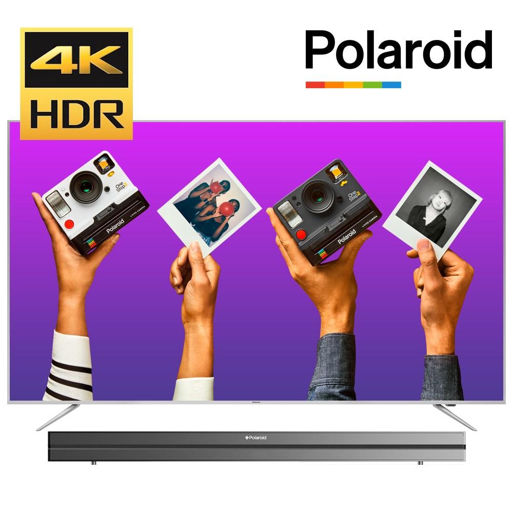 폴라로이드 191cm(75) POL75U UHDTV HDR10 USB 4K재생 무상설치, 2. POL75U 벽걸이방문설치 + 상하브라켓