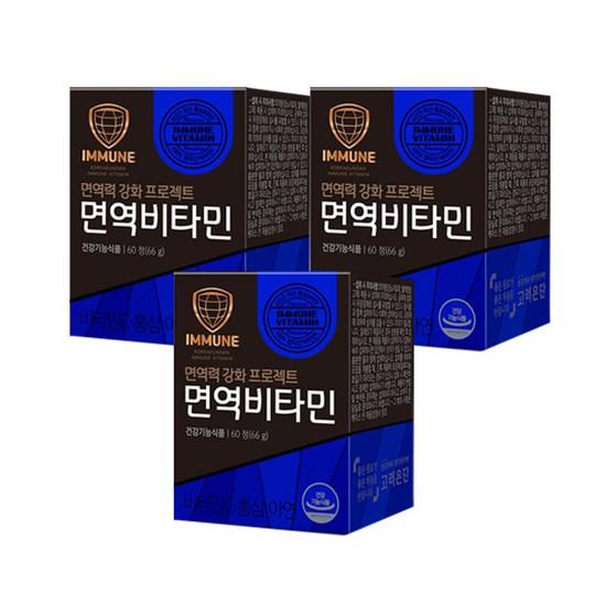 고려은단 면역비타민 60정 x 3개 3개월분, 상세설명 참조, 없음