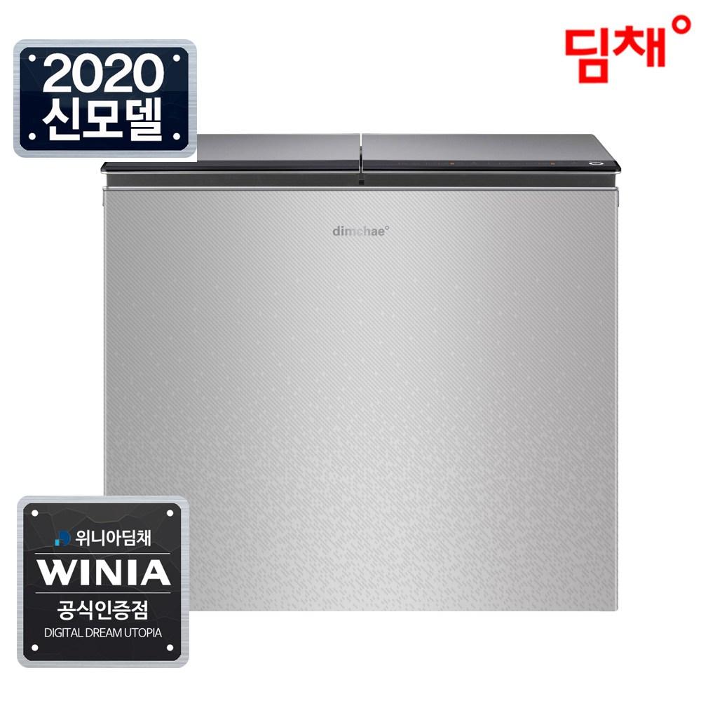 위니아 (공식) 20년형 딤채 뚜껑형 김치냉장고 EDL22CFSRSS 221리터