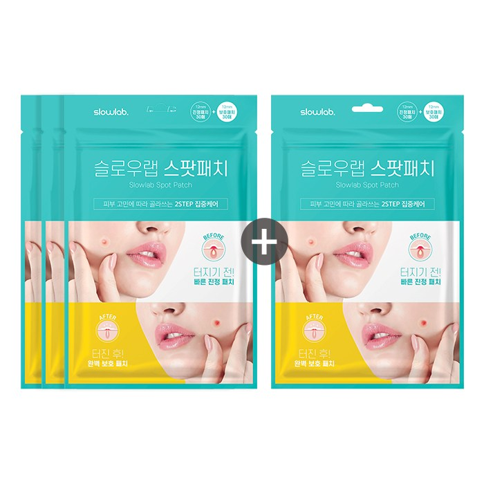 슬로우랩 스팟패치(진정패치30매+보호패치30매), 4개, 1세트