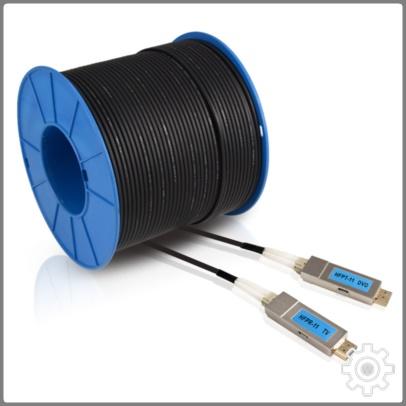 HDMI Fiber Optic 광 HDMI케이블 300M UHD 1080p, 단일 색상