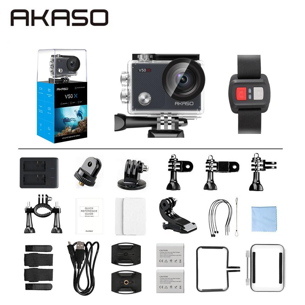 아카소 V50 EK7000 pro 4K Wifi 터치스크린 방수 액션캠 자전거 오토바이 블랙박스, V50X