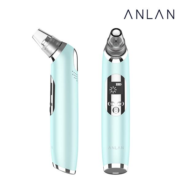 ANLAN 블랙헤드 제거기 피지흡입기 냉온 기능추가 업그레이드버전, 1개, 민트