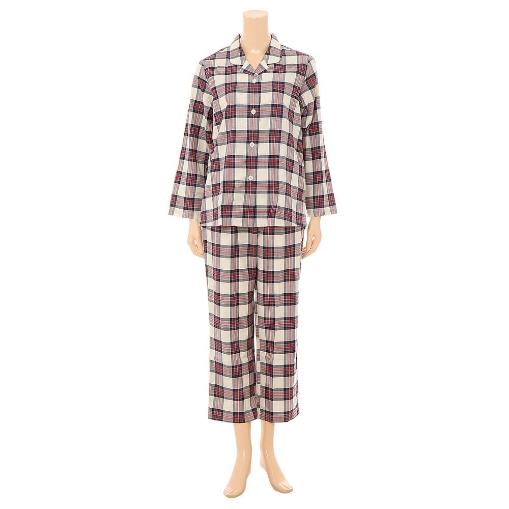 비너스 착한가격 면 100 베이직한 선염 체크 여성 잠옷