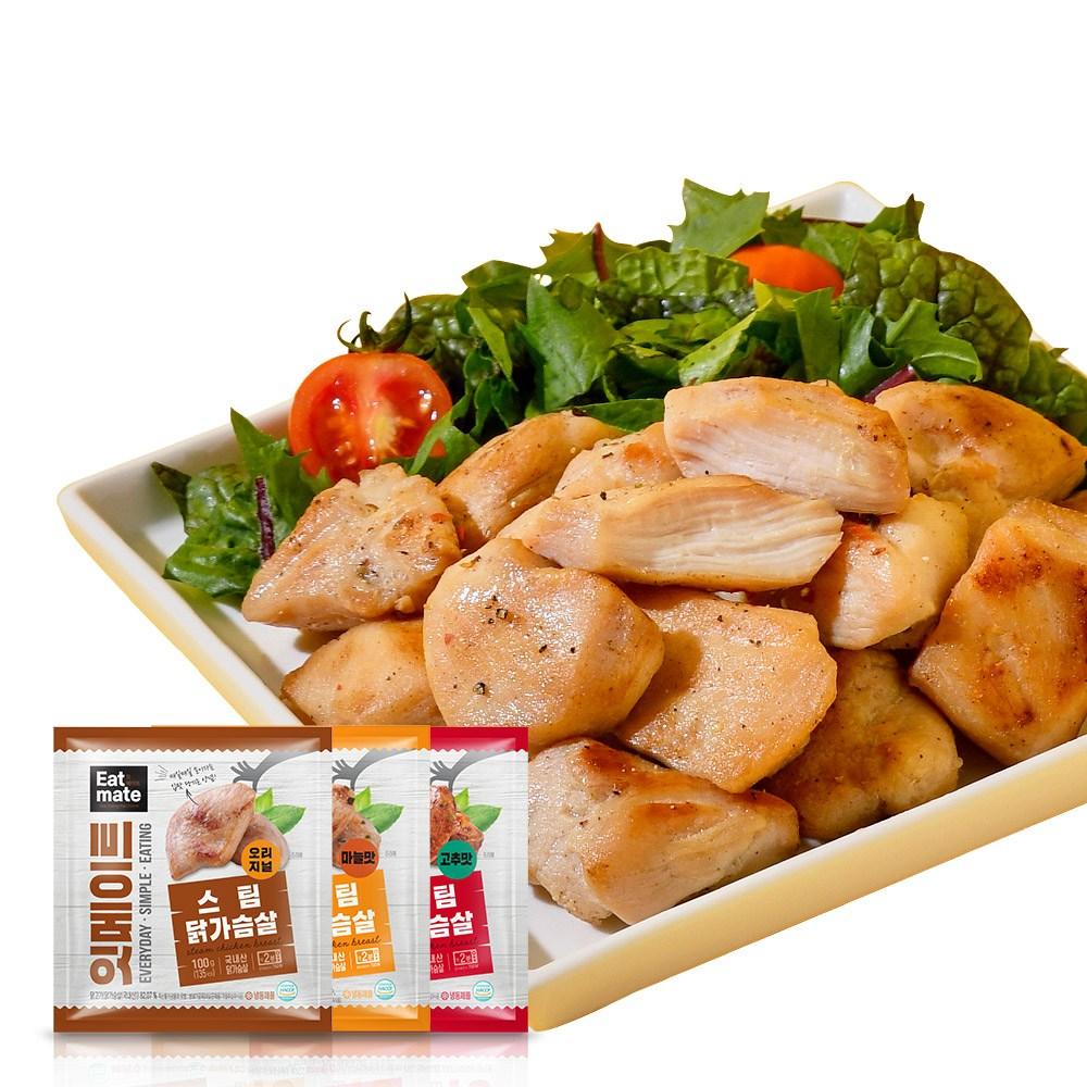 잇메이트 스팀 닭가슴살 혼합구성, 100g, 30팩