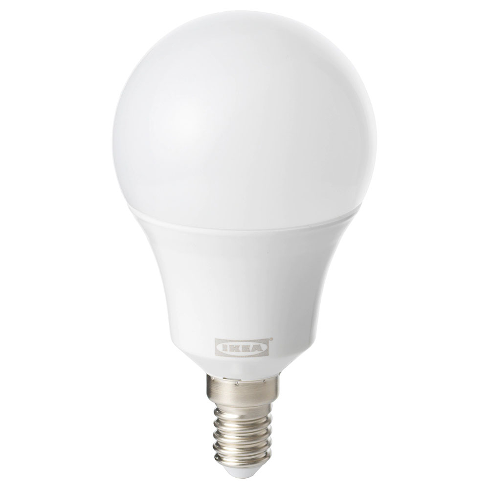 이케아 TRADFRI 트로드프리 LED전구 E14 600루멘 무선밝기조절, 1개, 백색