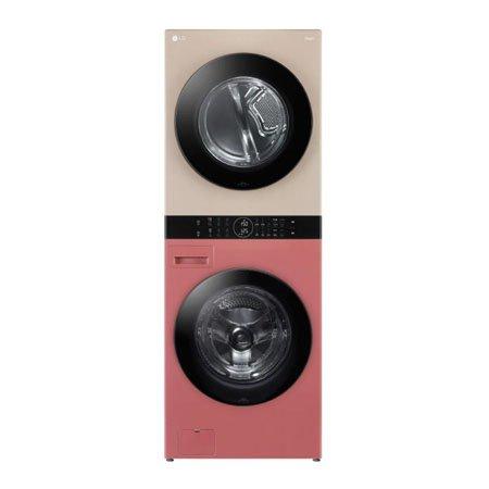 LG 워시타워 오브제컬렉션 W16DR.AKOR [세탁기24KG + 건조기16KG 원바디 플랫 디자인 원바디 런드리 컨트롤 건조 준비기능 드럼-네이처 레드우드 건조기-네이처 클레이, W16DR