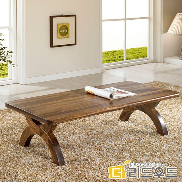거실 테이블 확장형 기능성 베란다 4인 1인 2인 6인 원형 좌식 입식 원목 나무 티 좌탁 통 라탄, 내추럴